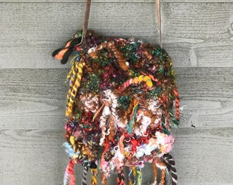 Bohemian crossbody purse OOAK