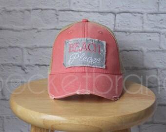 Trucker Hat - Beach Please Trucker Hat in Pink