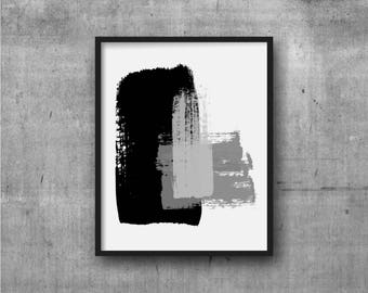 Black & Gray Art, Abstract Art, Contemporary Art, Art Print, Abstract painting, Contemporary Painting, Minimal, Minimalist