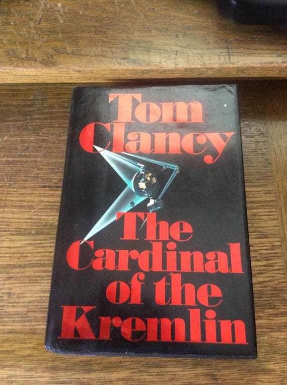 Tom Clancy's The Cardinal of The Kremlin, copyrights 1988, VIntage Tom Clancy, great gift idea, book collectors gift, Nothings New Here