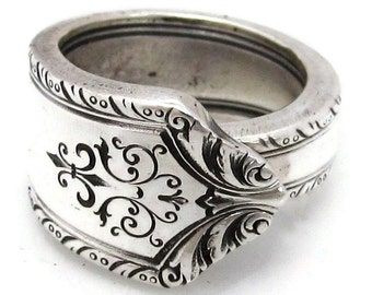 Art Deco Silver Spoon Ring Pageant (All Sizes) 5 6 7 8 9 10