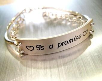 Bracelet in Silver 925 sentence