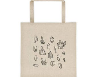 Crystal Geometric Canvas Tote Bag