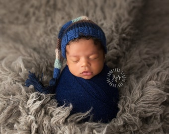 Parker - Newborn Tassel Stocking Hat