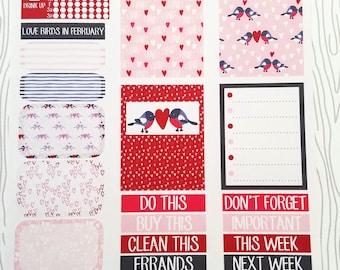 Love Birds In February Minimalist Weekly Kit (Set of 32) Item #649