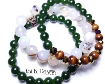 Agate and Jade Set