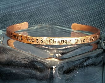Small Acts Copper Bangle Bracelet