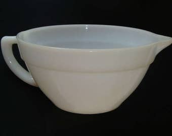 Fire King Large Milk Glass Batter Bowl ~ 1950's