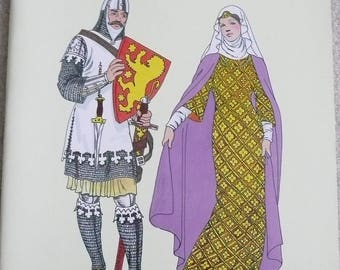 Dover Coloring Book, Medieval Fashions, by Tom Tierney, Dover Publications, Dover Book Co.