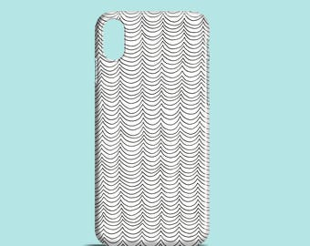 Line Waves phone case / pattern iPhone X case, iPhone 8, iPhone 7, iPhone 7 Plus, iPhone SE, iPhone 6S, iPhone 6, iPhone 5S, iPhone 5