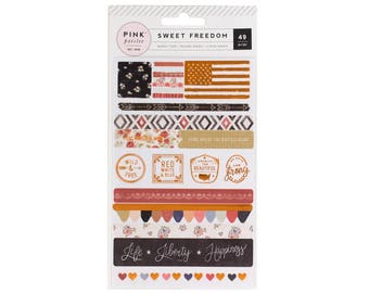 Pink Paislee Sweet Freedom Washi Shapes
