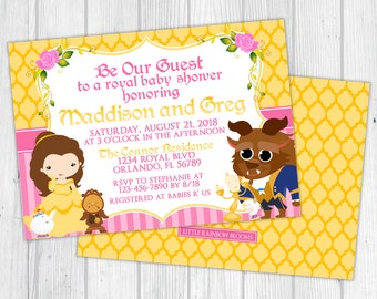 Beauty and the Beast Baby Shower Invitation