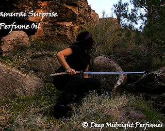 Samurai Surprise Perfume Oil - Walking Dead inspired perfume - Michonne - Nag champa, amber, rich chocolate, soft citrus, florals