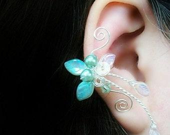 Pearl of the Sea Ear Cuff, Fantasy Wedding, Bridal Ear Cuff