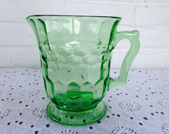 Hazel Atlas Colonial Footed Pitcher