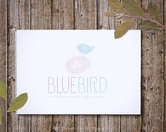 Photography Logo - newborn photography logo - watercolor logo design - Childrens Boutique Logo