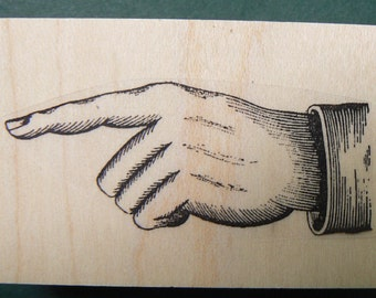 pointing finger  rubber stamps WM P8