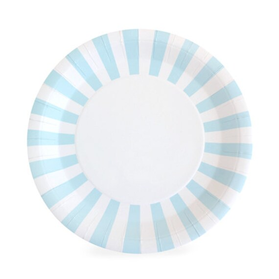 Blue and White Striped Paper Plates | Large Blue Paper Plates | Blue Dinner Plates | Blue Party Plates - Set of 12 from PartyFix on Etsy Studio  sc 1 st  Etsy Studio & Blue and White Striped Paper Plates | Large Blue Paper Plates | Blue ...