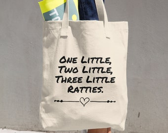 One Little Ratties Cotton Tote Bag