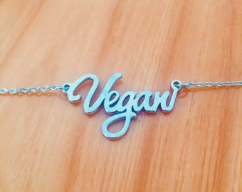 BEST seller Vegan Necklace ~ Letter Necklace