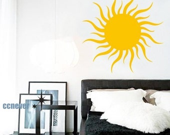 shinning sun----Removable Graphic Art wall decals stickers home decor