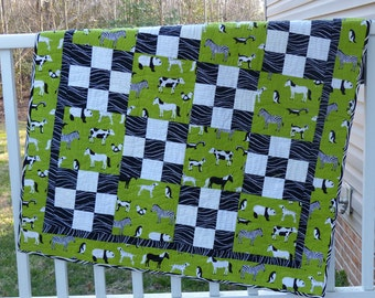 Animal Menagerie Baby Quilt