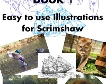 Scrimspirations Book 1 - scrimshaw patterns / templates