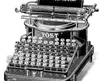 Vintage typewriter - Temporary tattoos