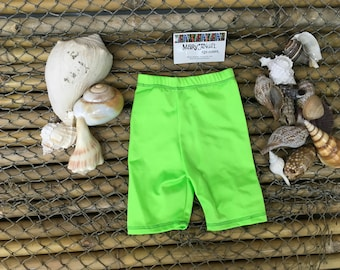 3-6 months neon green spandex shorts , pants, kids clothes, baby items, toddlers clothes, childrens shorts, fun