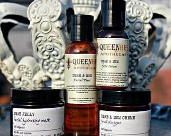 DMAE & MSM Skin Care Set - Toner, Creme, Serum, Mask - Natural Vegan