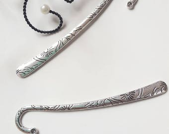 The bookmarks Sun pattern silver color metal