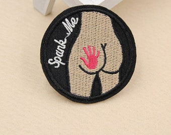 Iron on patches asshole dick
