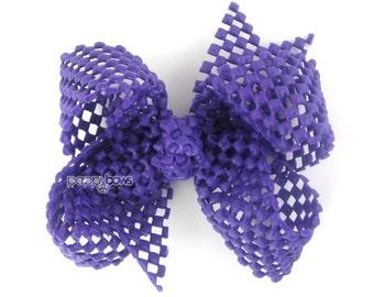 """Girls Hair Bows - Purple Waterproof Hair Bow - 4"""" Boutique Bow - Summer Hair Bows - Toddler Baby Hair Bows - Beach hair clip beach hair bows"""