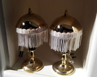 Set of 2 Vintage Lamps with Shades, Vintage Table Lamps