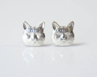 Cat Earrings, Cat Jewelry, Crazy Cat Lady, I Like Cats, Hypoallergenic Earrings, Hypoallergenic Jewelry, Gifts for Her, Gifts for Cat Lovers