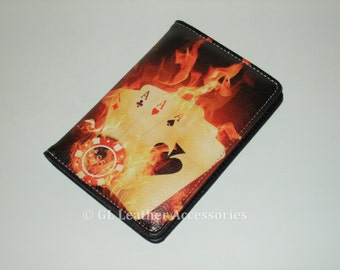 High Quality Faux Leather Passport Holder Case (Burning Cards)
