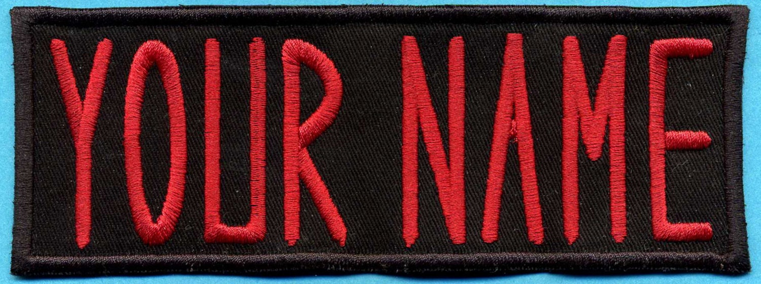 Image is loading CUSTOM-EMBROIDERED-NAME-TAG-TITLE-TAG-PATCH-VEST-