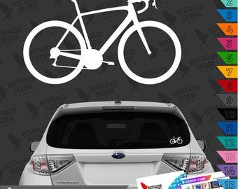 Road Bike Decal Car Sticker - Cyclist - Road Bike Decal