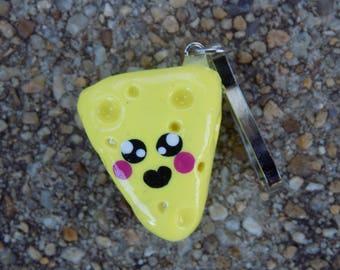 Small Pastel Yellow Kawaii Cheese Clay Charm