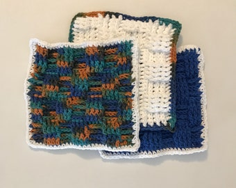 Basketweave Crochet Washcloth