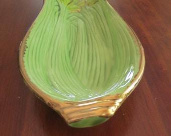Hand Made Vintage Ceramic Celery Dish