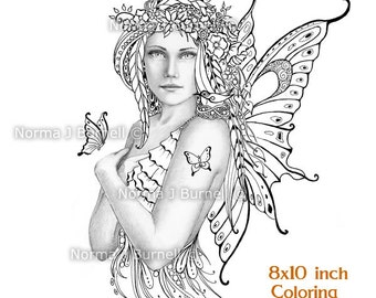 spring fairy tangles printable grayscale coloring book sheets pages by norma j burnell fairies to color adult coloring digital coloring