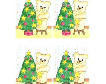 Teddy bear Christmas tree Christmas DC005