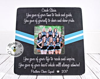 ON SALE Cheer Coach Gift, Dance Coach Gift, Dance Team Gift, Cheer Coach, Cheerleading Gifts, Cheer Leader, Coach Picture Frame, You Gave