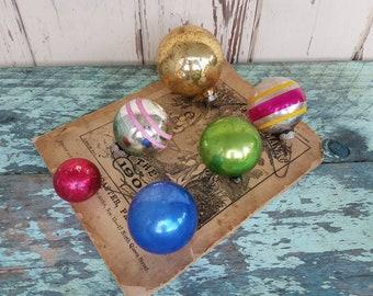 Christmas Bulbs - Retro Shiny Bright Ornaments, Tree Decor, Vintage Mercury Glass, Glass Balls, Festive Christmas Decor, Mid Century Holiday
