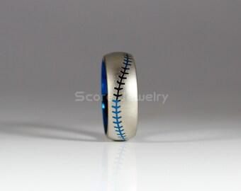 Baseball stitch ring Etsy