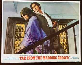 Lobby card from Far from the Madding Crowd, Stamp/Christie, stairs.