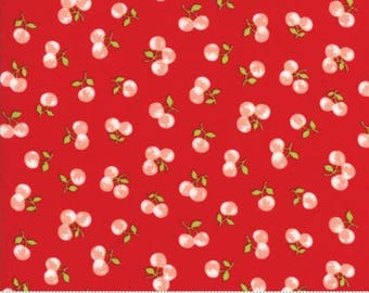 FABRIC The GOOD LIFE Cherries on Red     We combine shipping