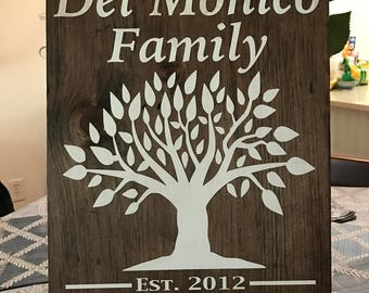 Custom Family Wood Sign