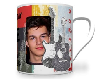 Personalised Music Birthday Mug. Teenager Mug. Teenage Music Mug. Personalised Teenager Mug. Personalised Music Mug.